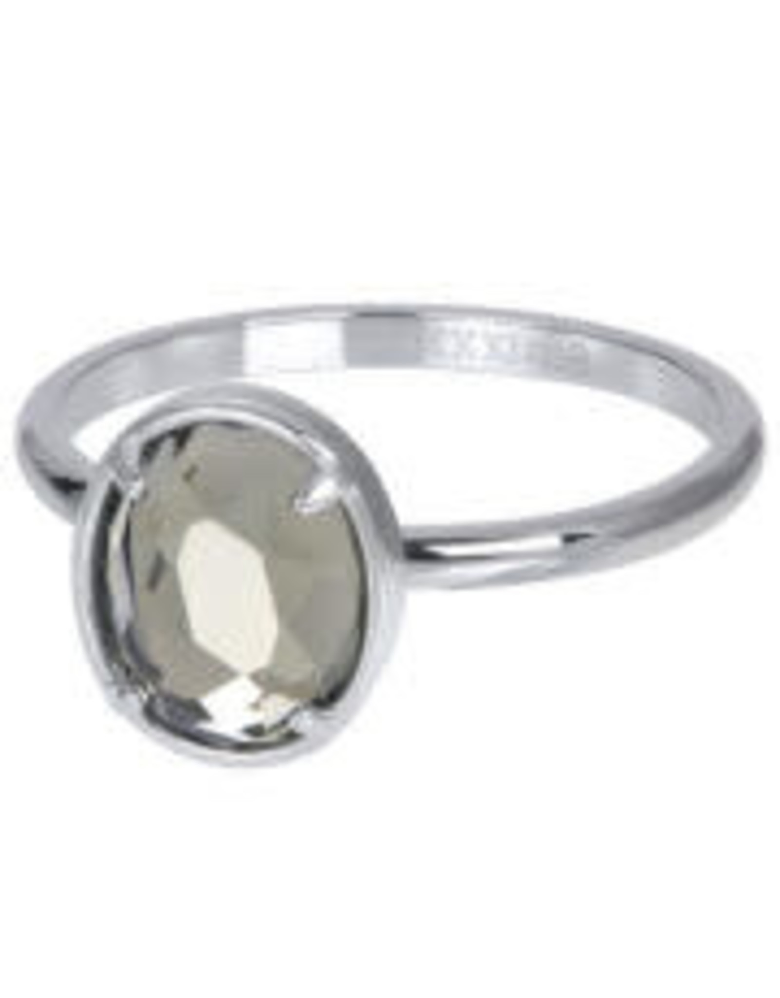 IXXXI IXXXI Glam Oval ring Silver