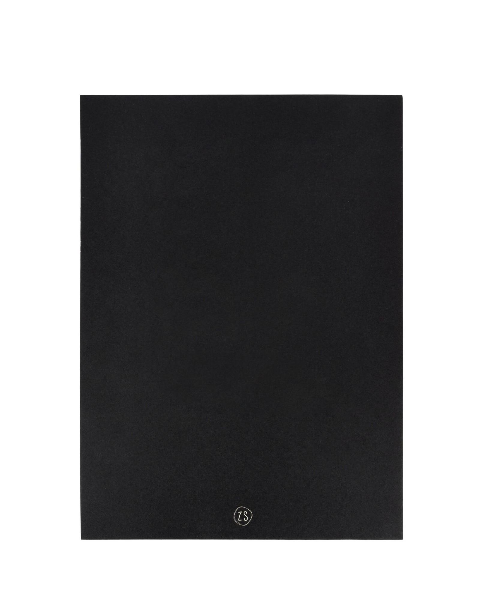 Zusss Zusss A4-Poster Can I Go Zwart