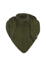 Knit Factory Knit Factory 1206025 Coco Triangle Scarf 190x85 Khaki