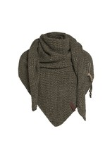 Knit Factory Knit Factory 1206044 Coco Triangle Scarf 190x85 Green/Olive