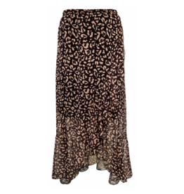 Elvira Elvira Skirt Sara Animal Print Camel