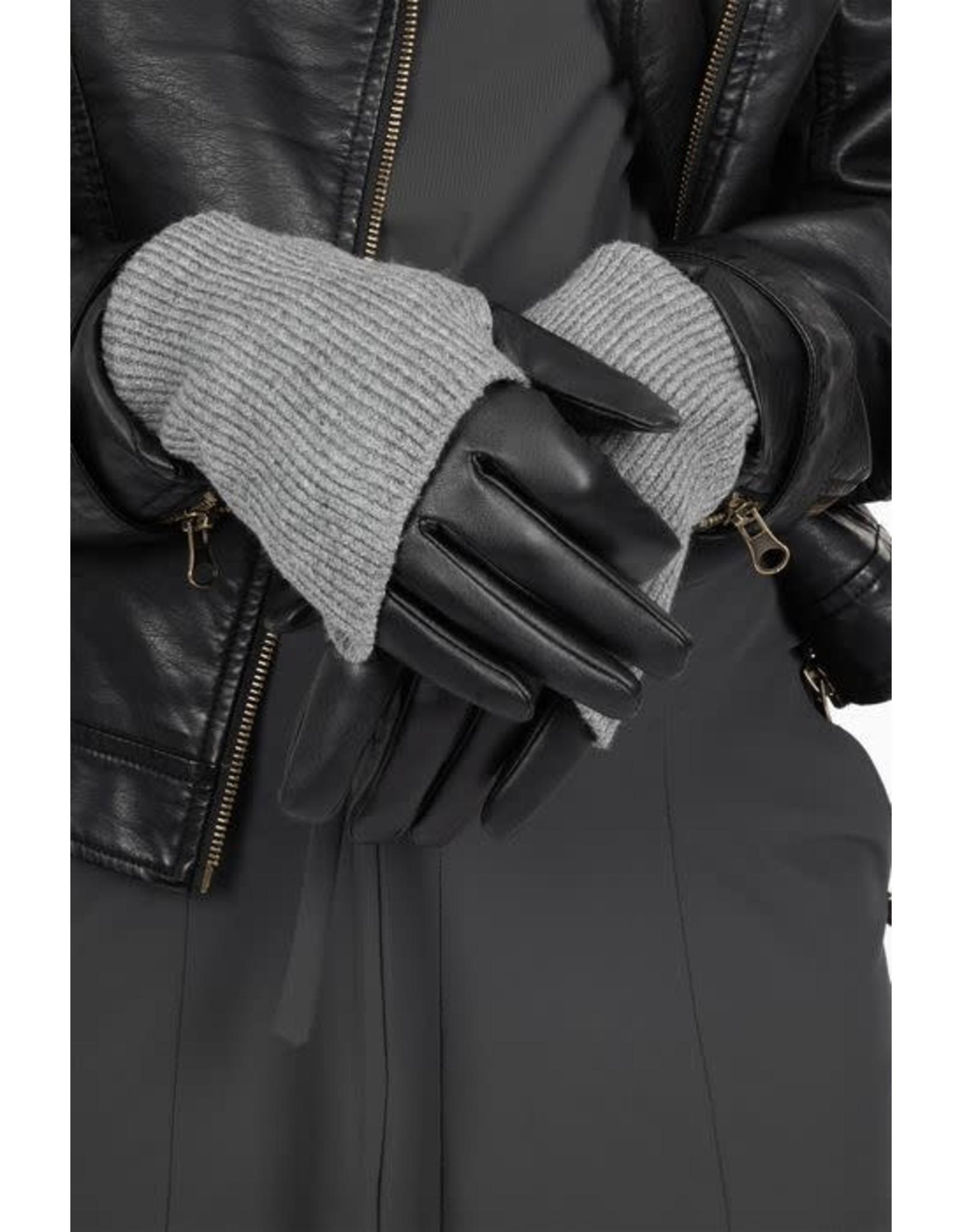 Zusss Zusss Stoere handschoenen zwart/mist