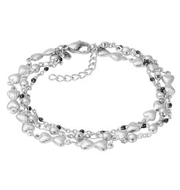 IXXXI IXXXI Bracelets Botswana (black beads) Silver