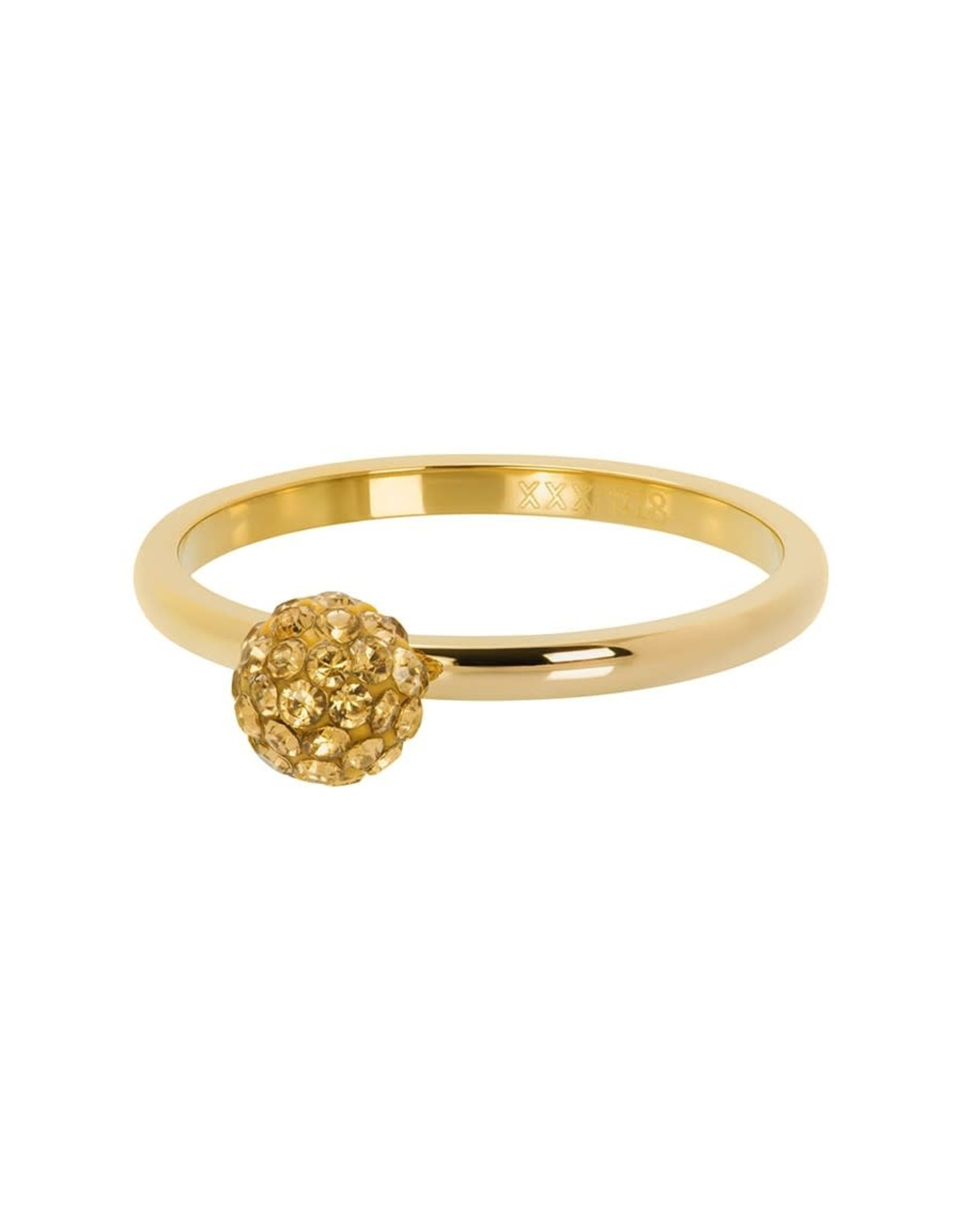 IXXXI IXXXI Ball Fill Clear Crystal ring Gold 15