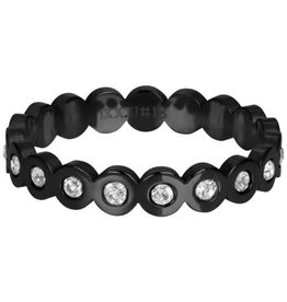 IXXXI IXXXI Big Circle Stone ring Black