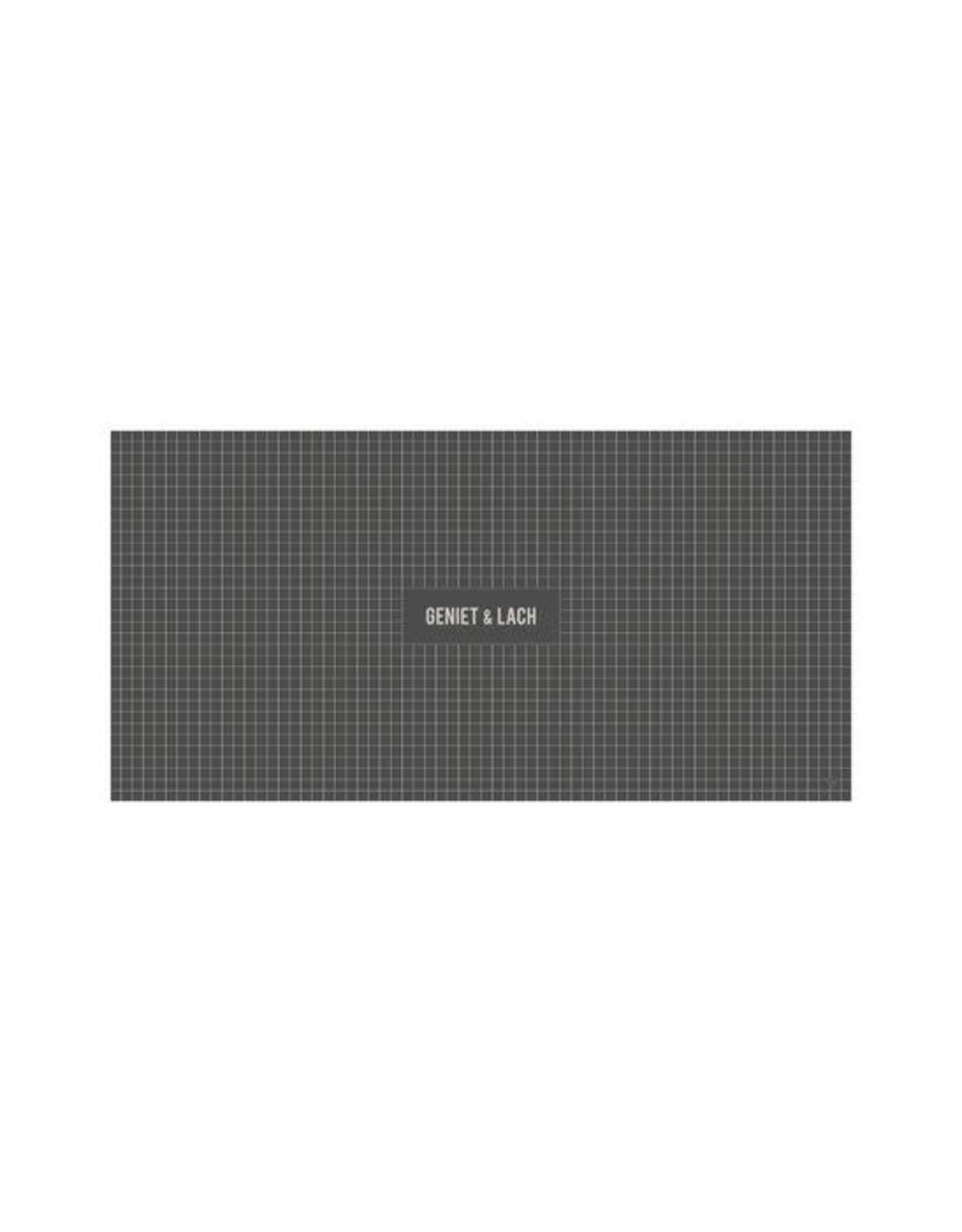 Zusss Zusss tafelkleed geniet 300 x 150cm antraciet grijs
