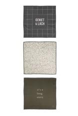 Zusss Zusss vaatdoekjes set van 3 met tekst en patroon