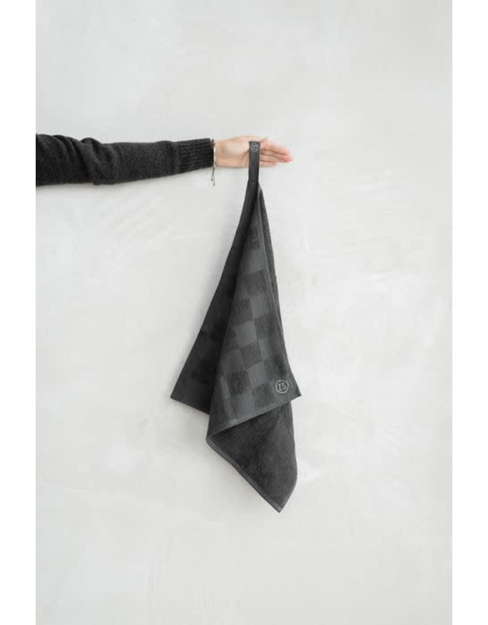 Zusss Zusss handdoek geblokt antracietgrijs