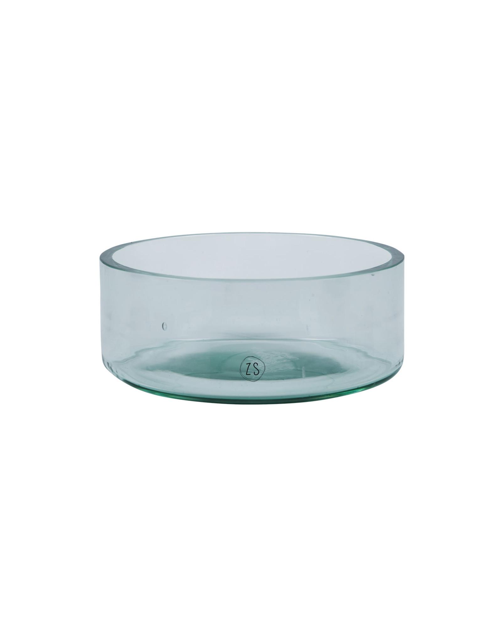 Zusss Zusss schaal gerecycled glas kaarshouder