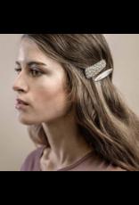 Dansk Dansk 4C3027 Slim Solid Hair Clip Rhodium Plating