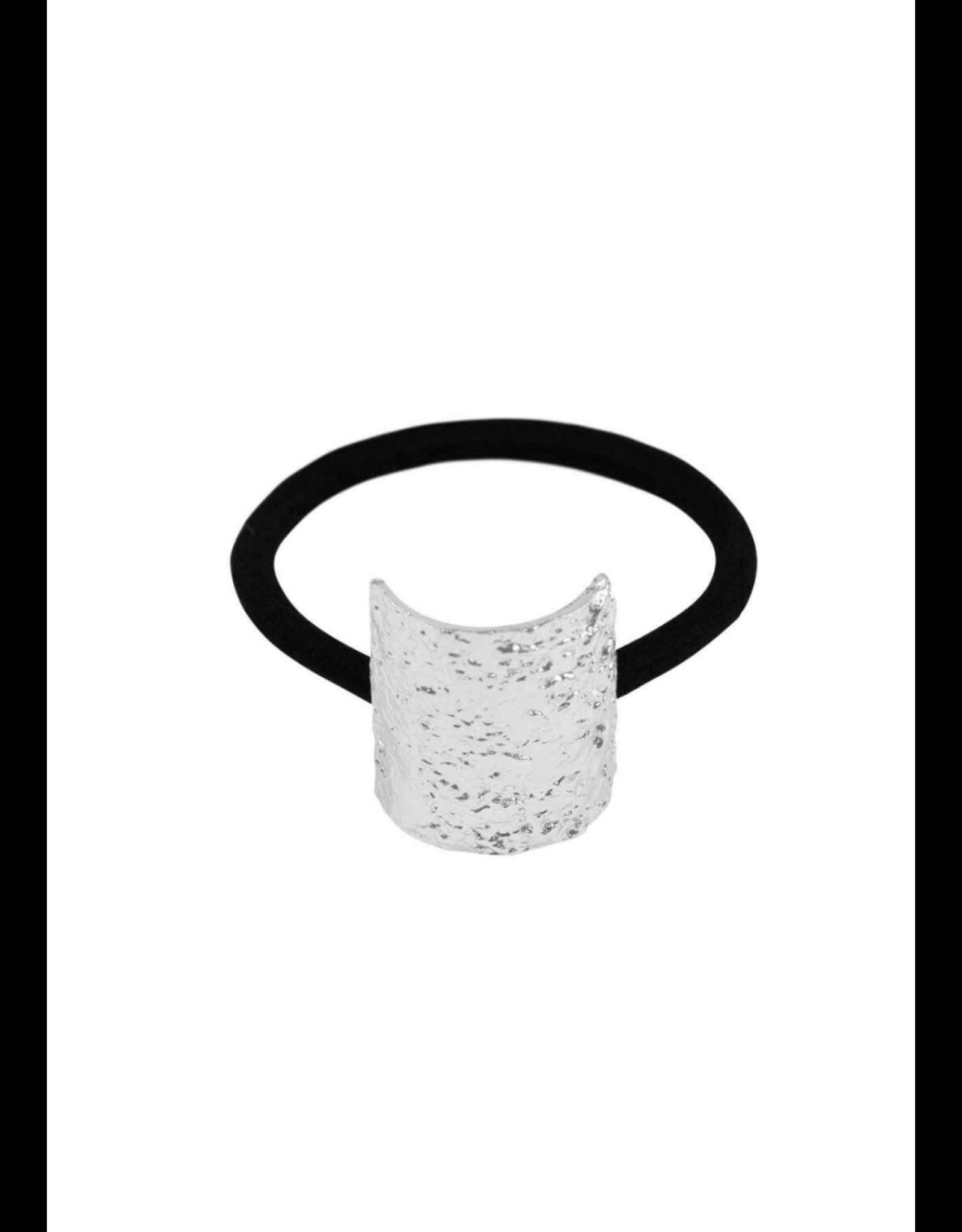 Dansk Dansk 4C3046 Textured Elastic Rhodium Plated