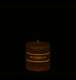 Riverdale Riverdale Geurkaars Pillar Mokka 10cm