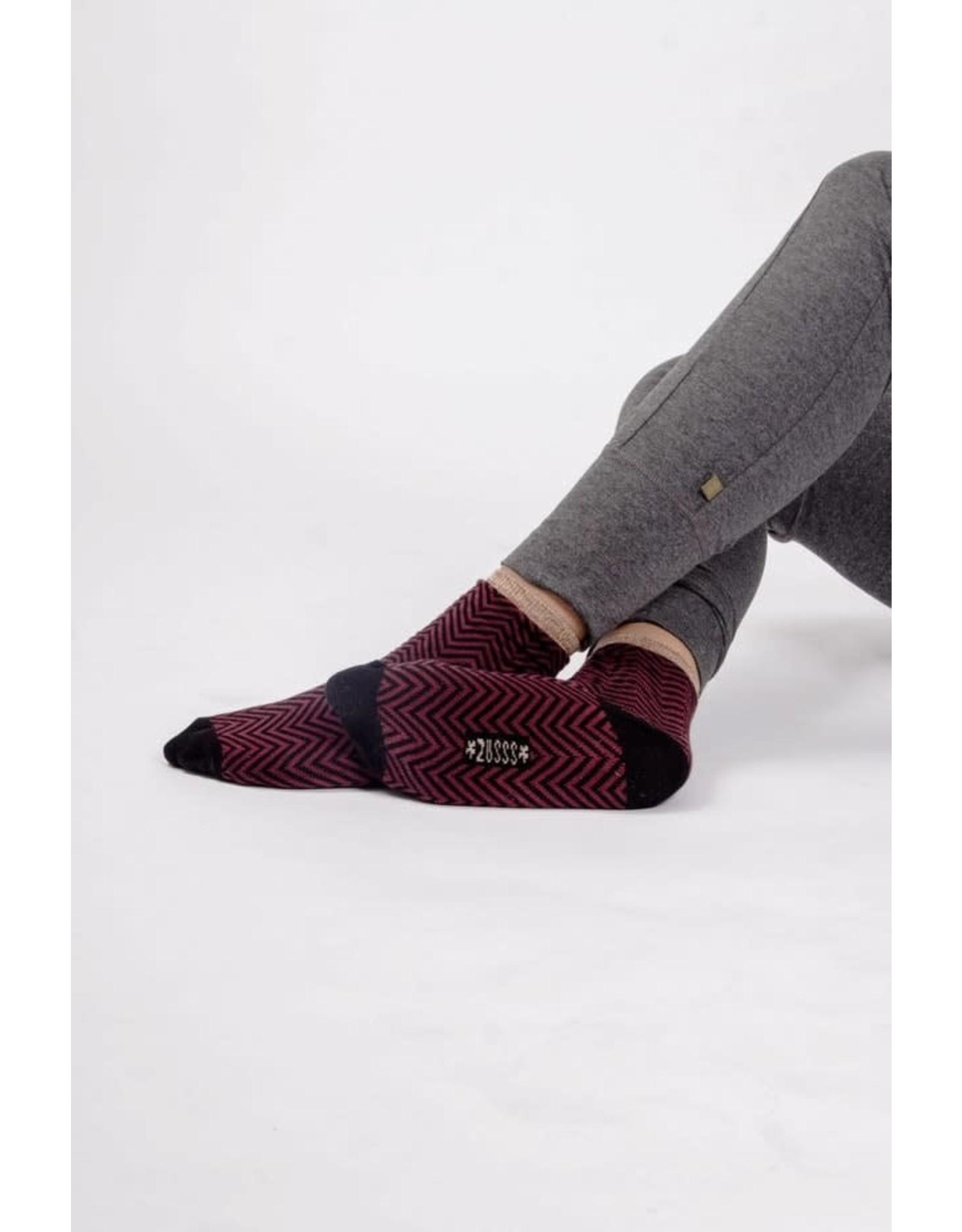 Zusss Zusss Sjieke sokken Aubergine