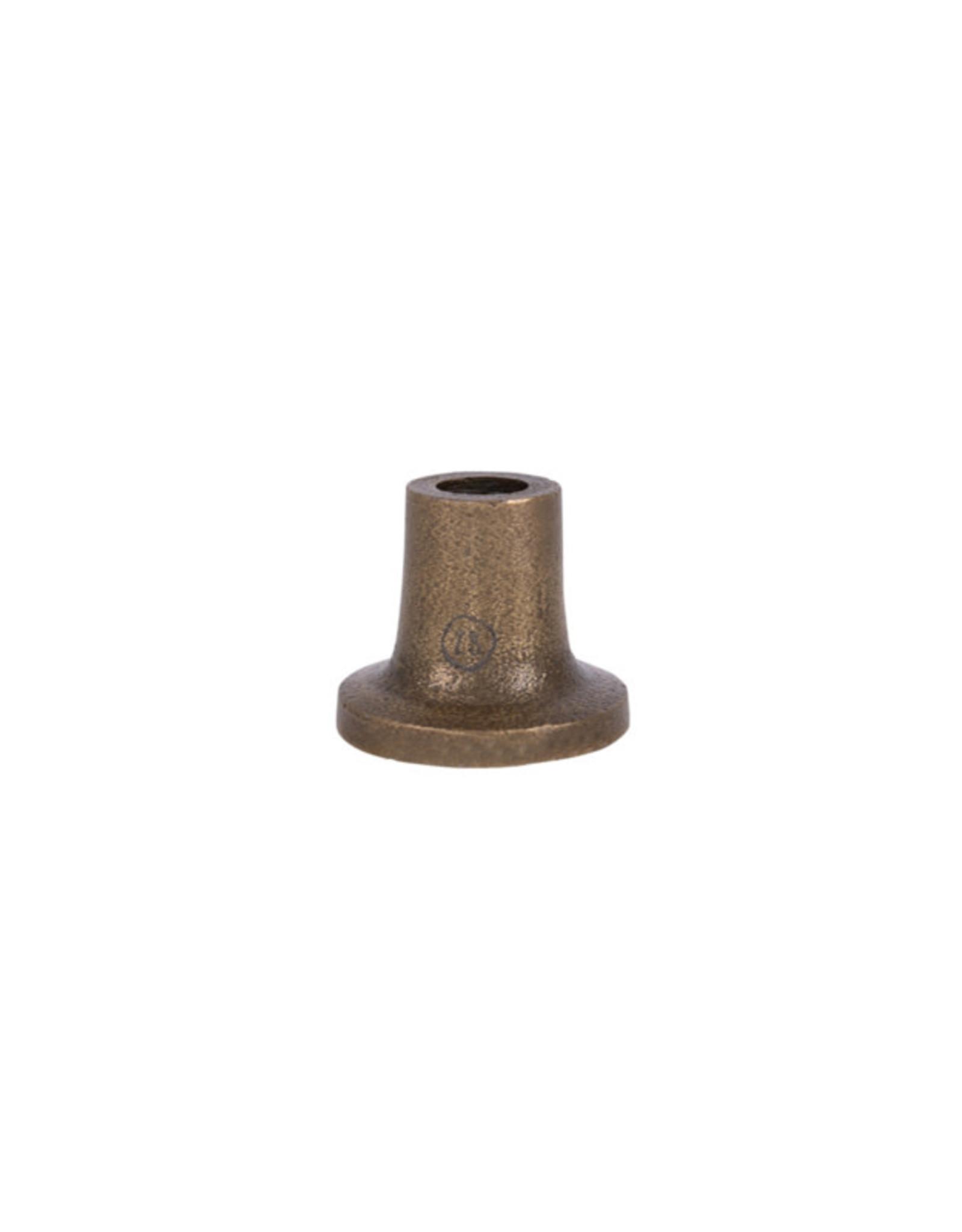 Zusss klein kandelaartje brons