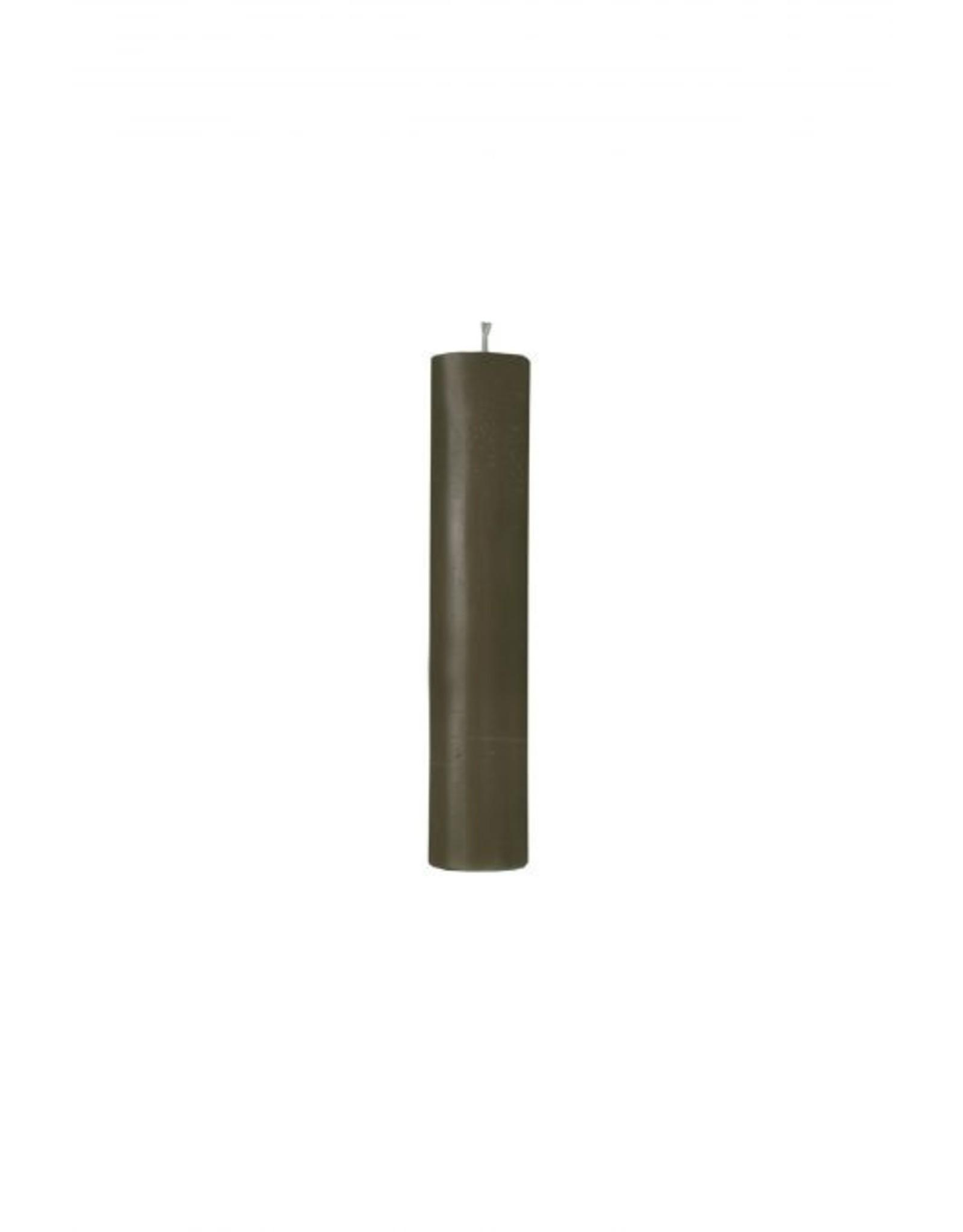 Zusss Zusss rustiek kaarsje groen 12cm