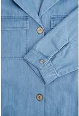 Zusss Zusss Doorknoopjurk jeans lichtblauw