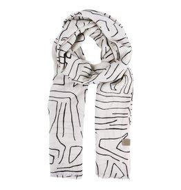 Zusss Zusss Sjaal met safariprint Zand