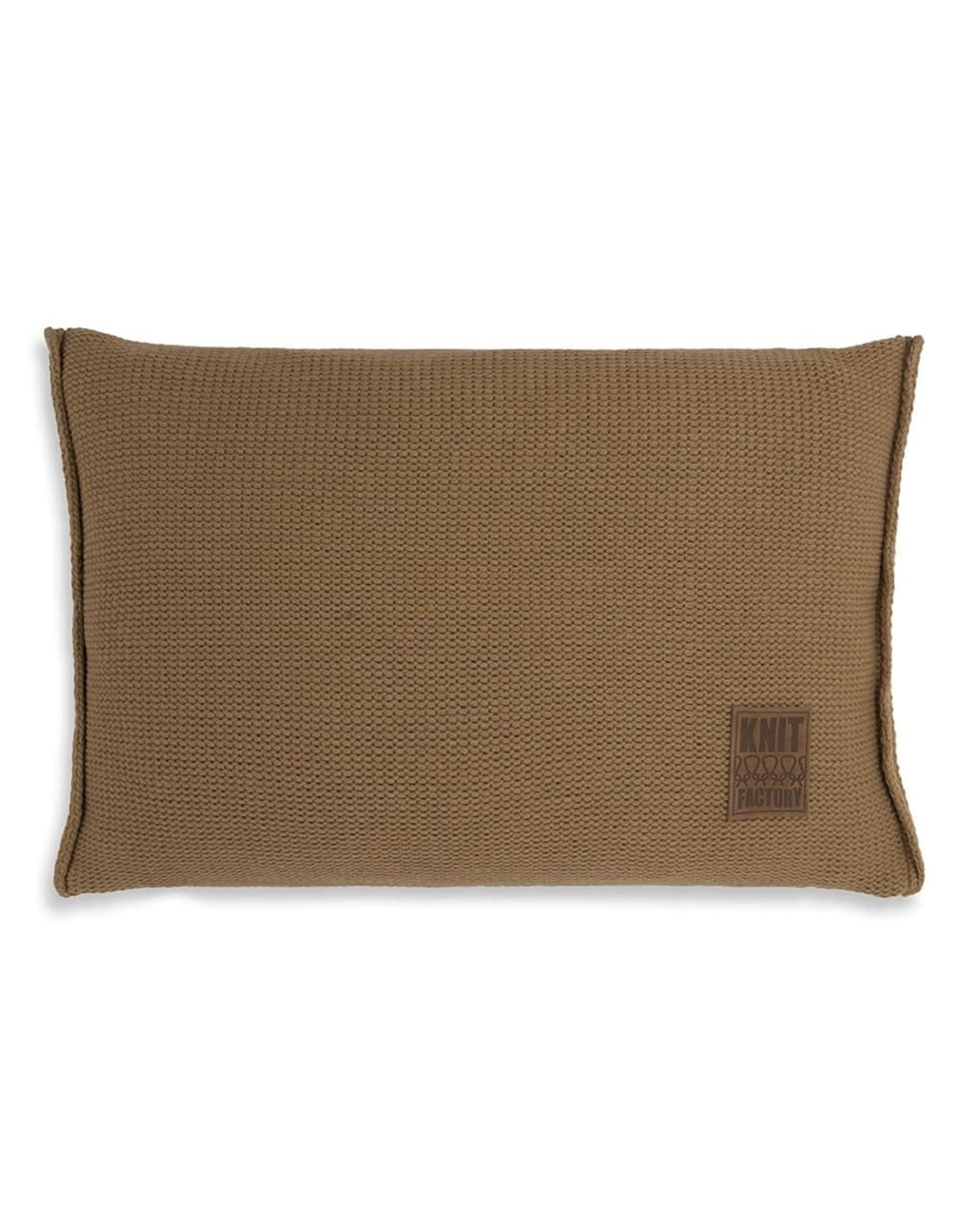 Knit Factory Knit Factory kussen Uni 60x40 New Camel