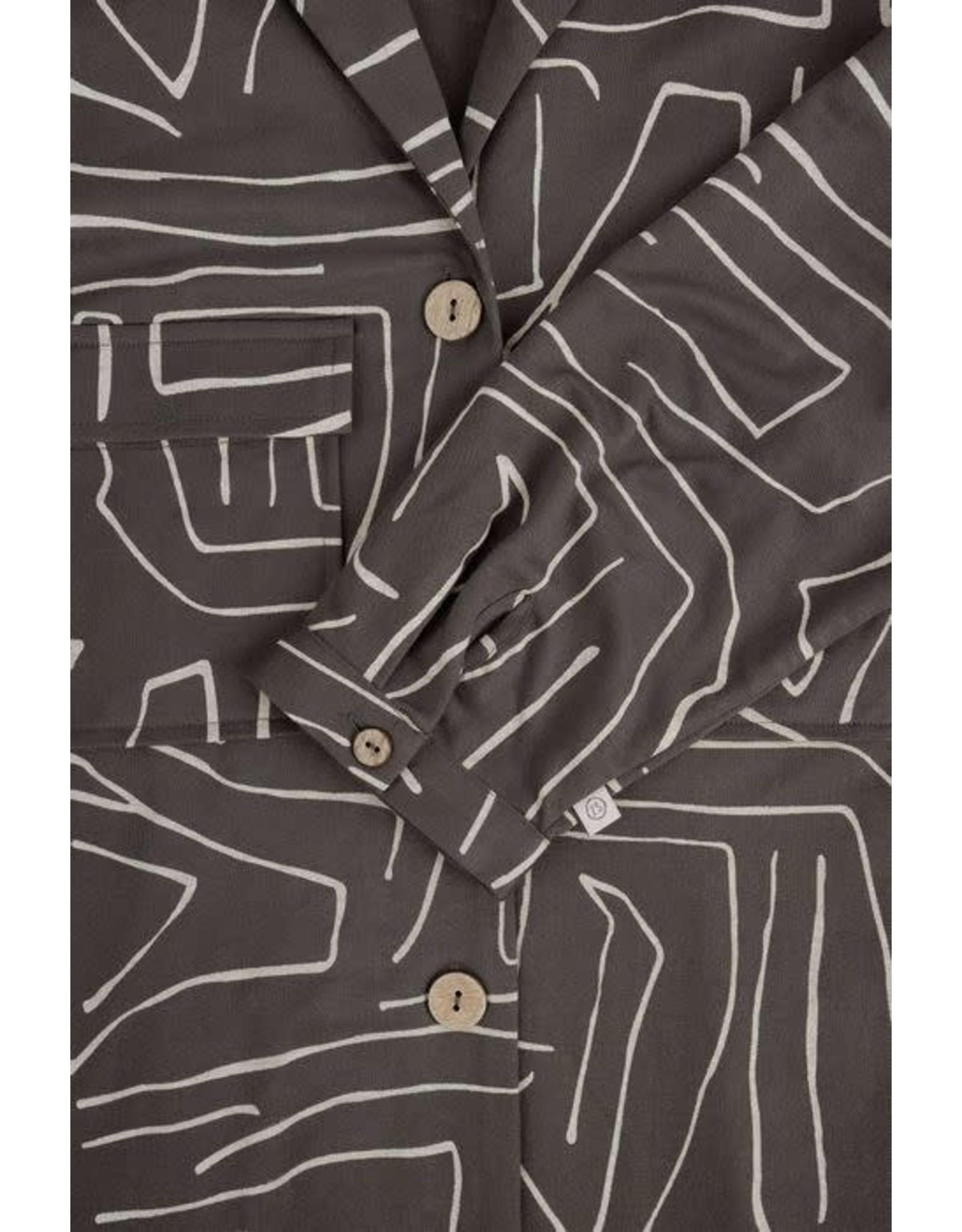 Zusss Zusss Doorknoopjurk Met Safariprint