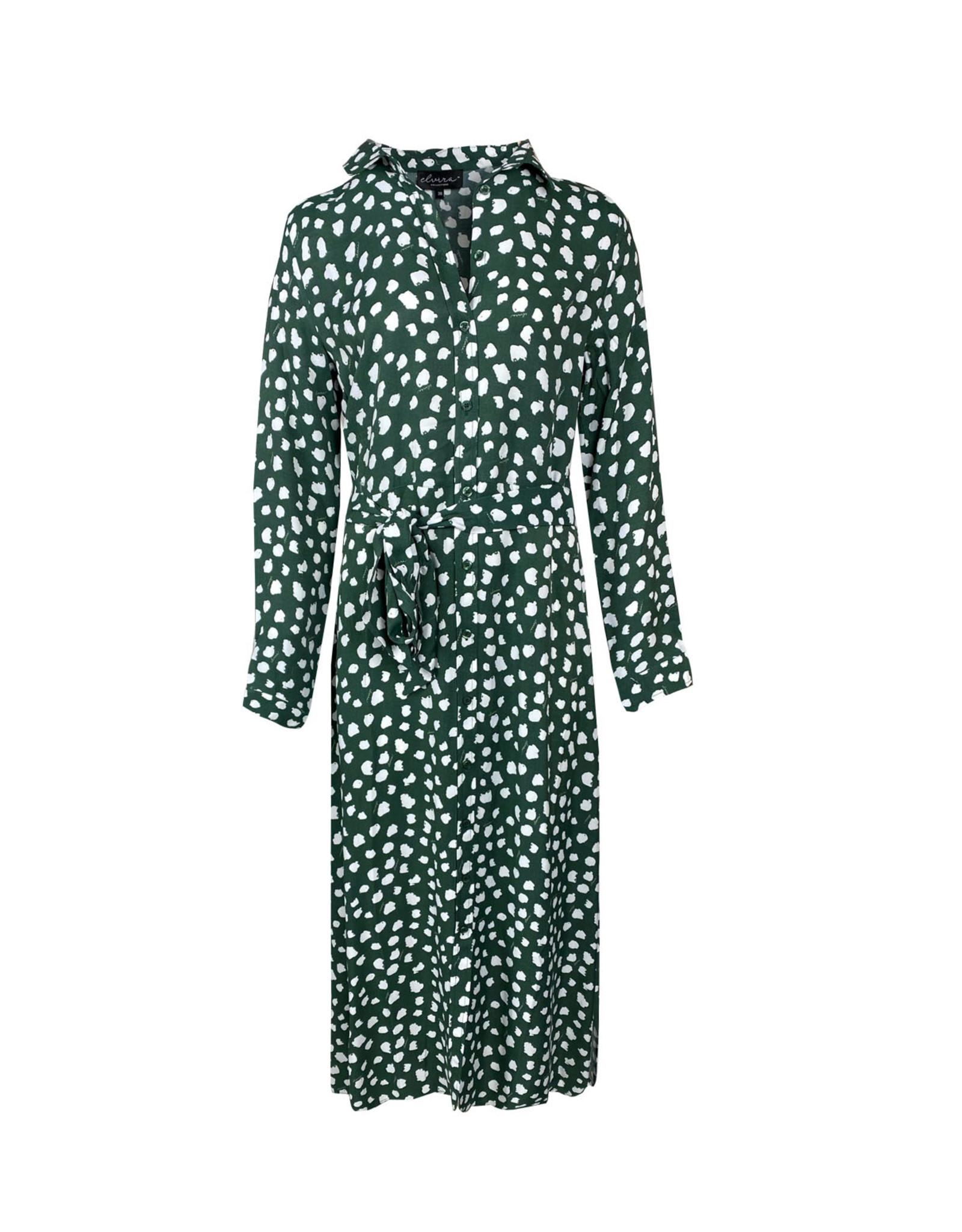 Elvira Elvira Dress Lina Dot Green E1 21-040