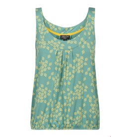 zilch Zilch Top Sleeveless Leaves Porcelain