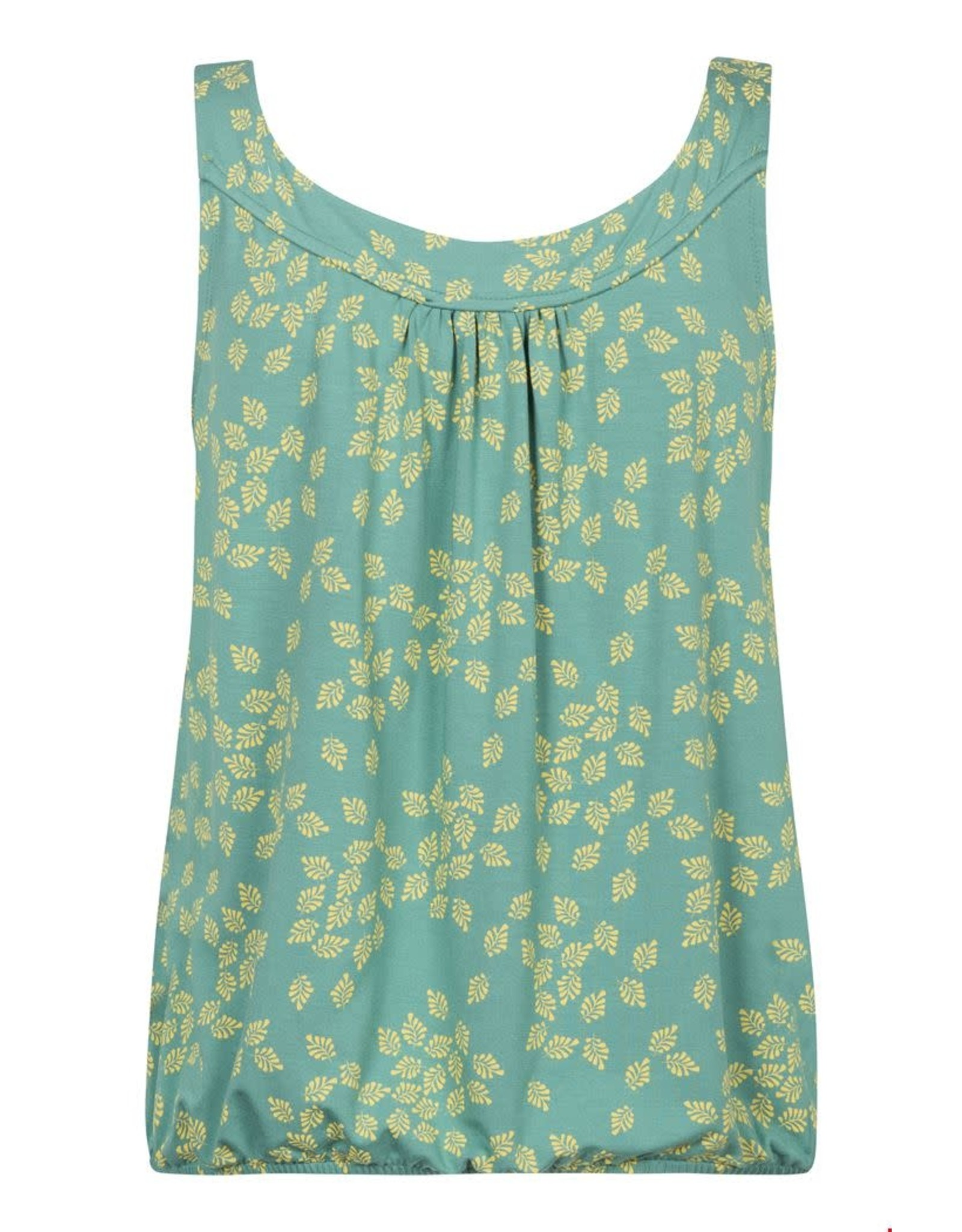 zilch Zilch Top Sleeveless Leaves Porcelain 11EVI10 100D