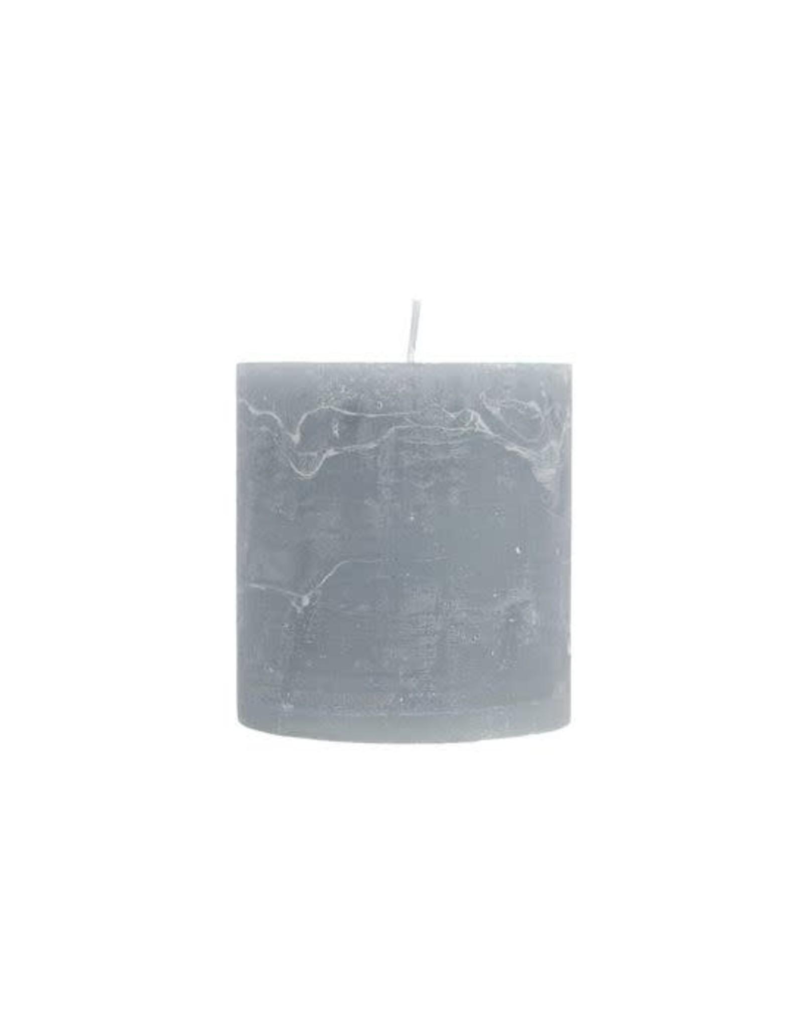 Zusss Zusss stompkaars grijs-blauw Ø7cm