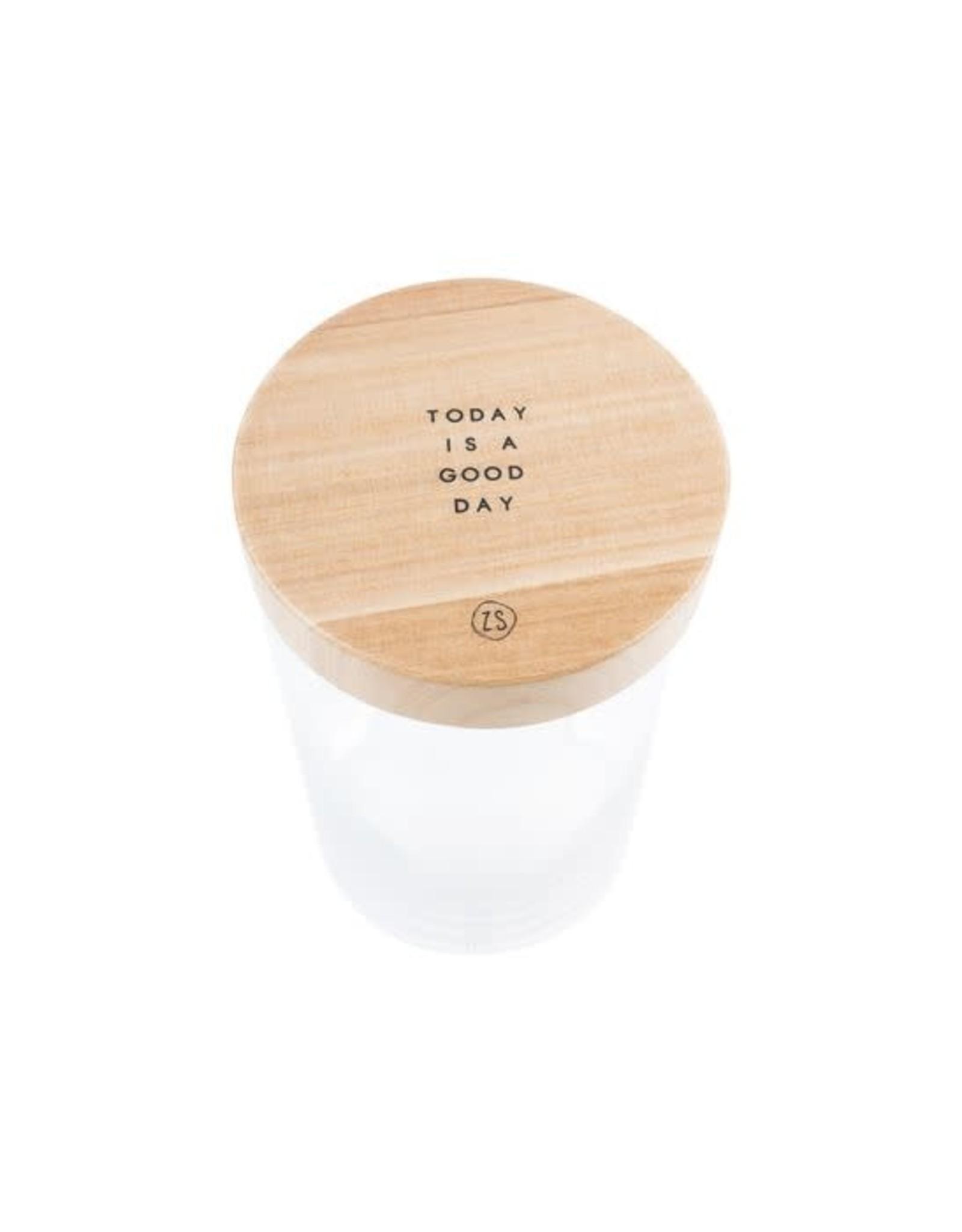 Zusss Zusss voorraadpot met houten deksel L