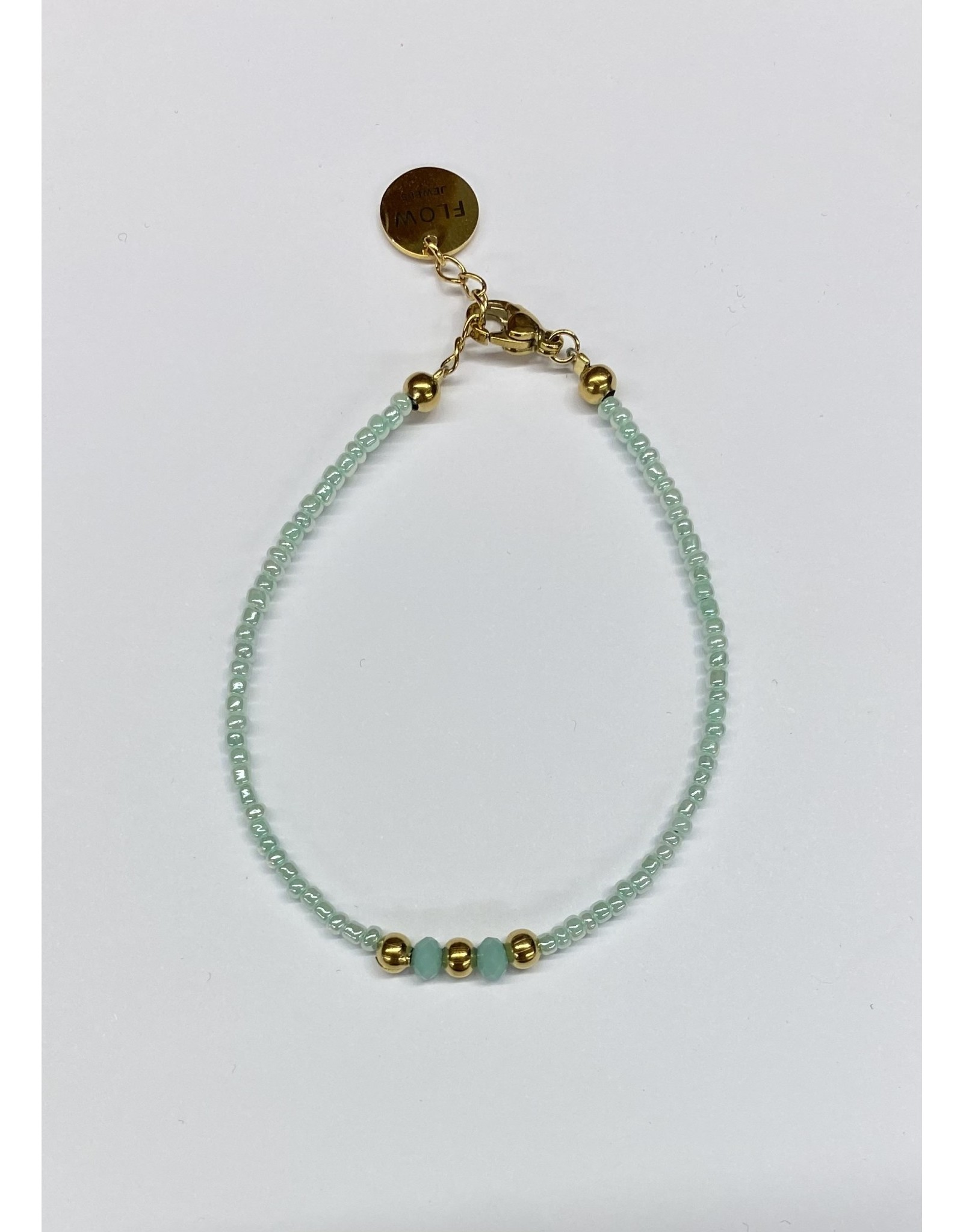 flow Flow Armband 21129 Turquoise/ Goud