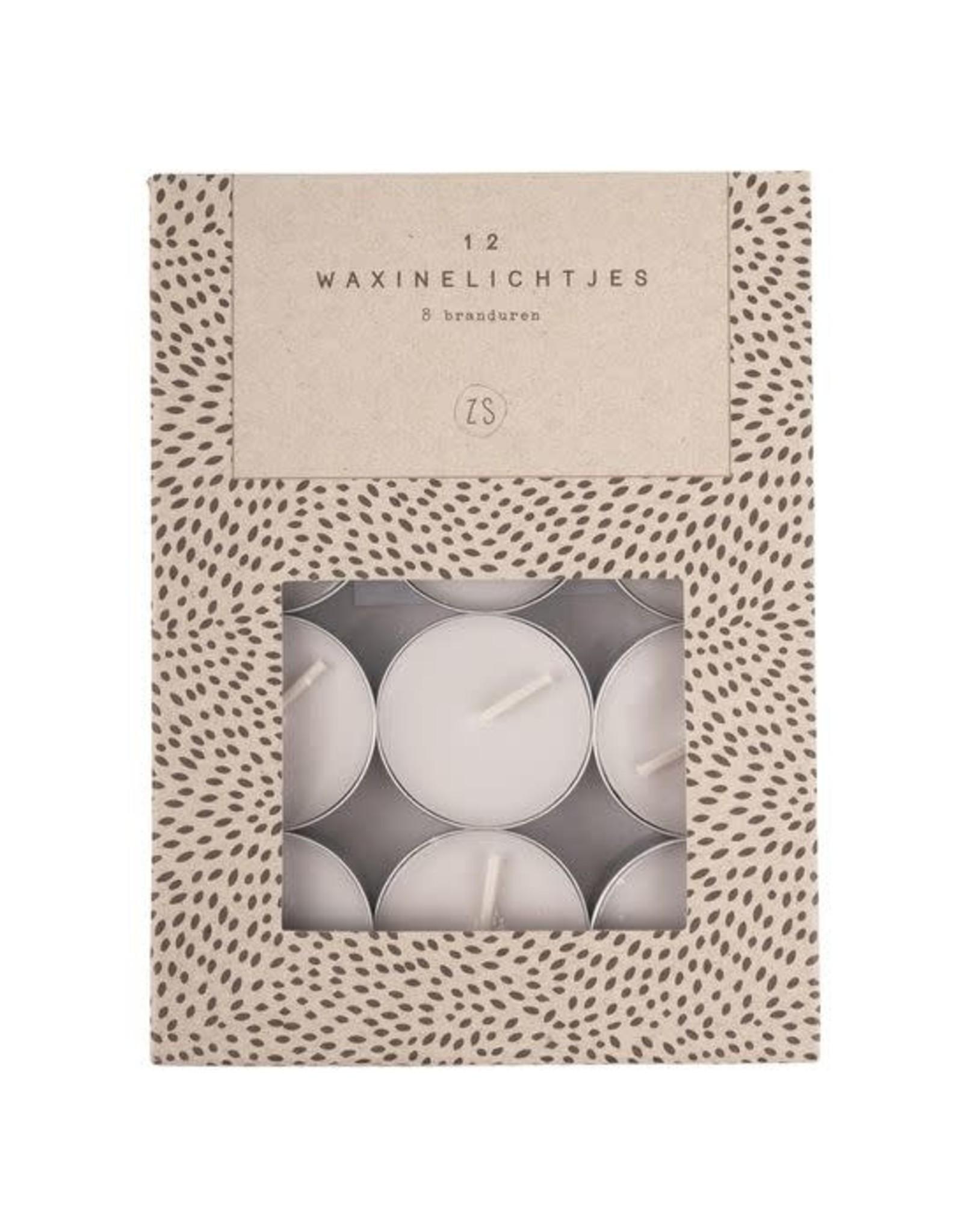 Zusss Zusss set van 12 waxinelichtjes