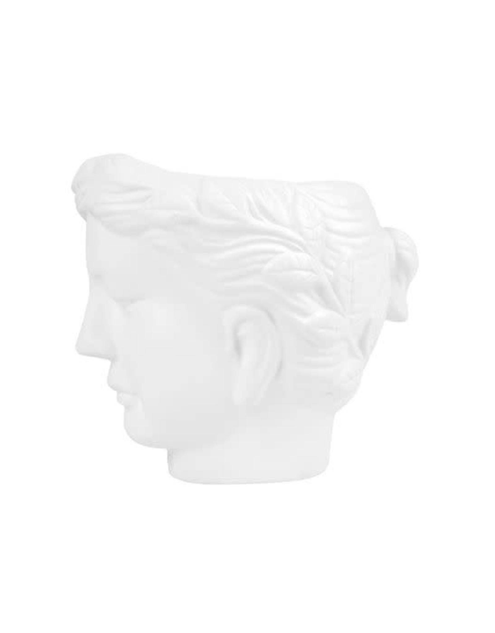 Zusss Zusss bloempot met hoofd vrouw wit