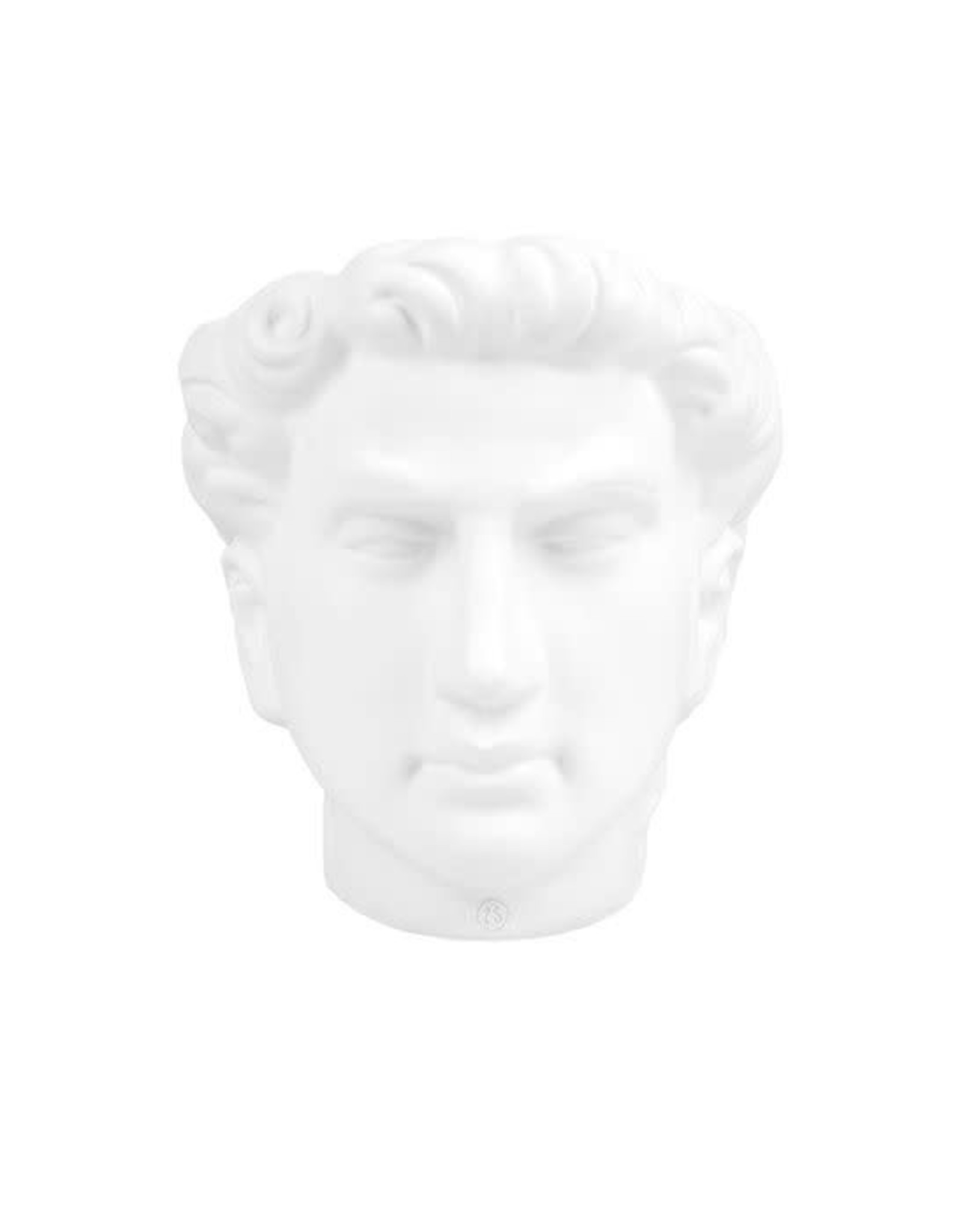Zusss Zusss bloempot hoofd man keramiek wit