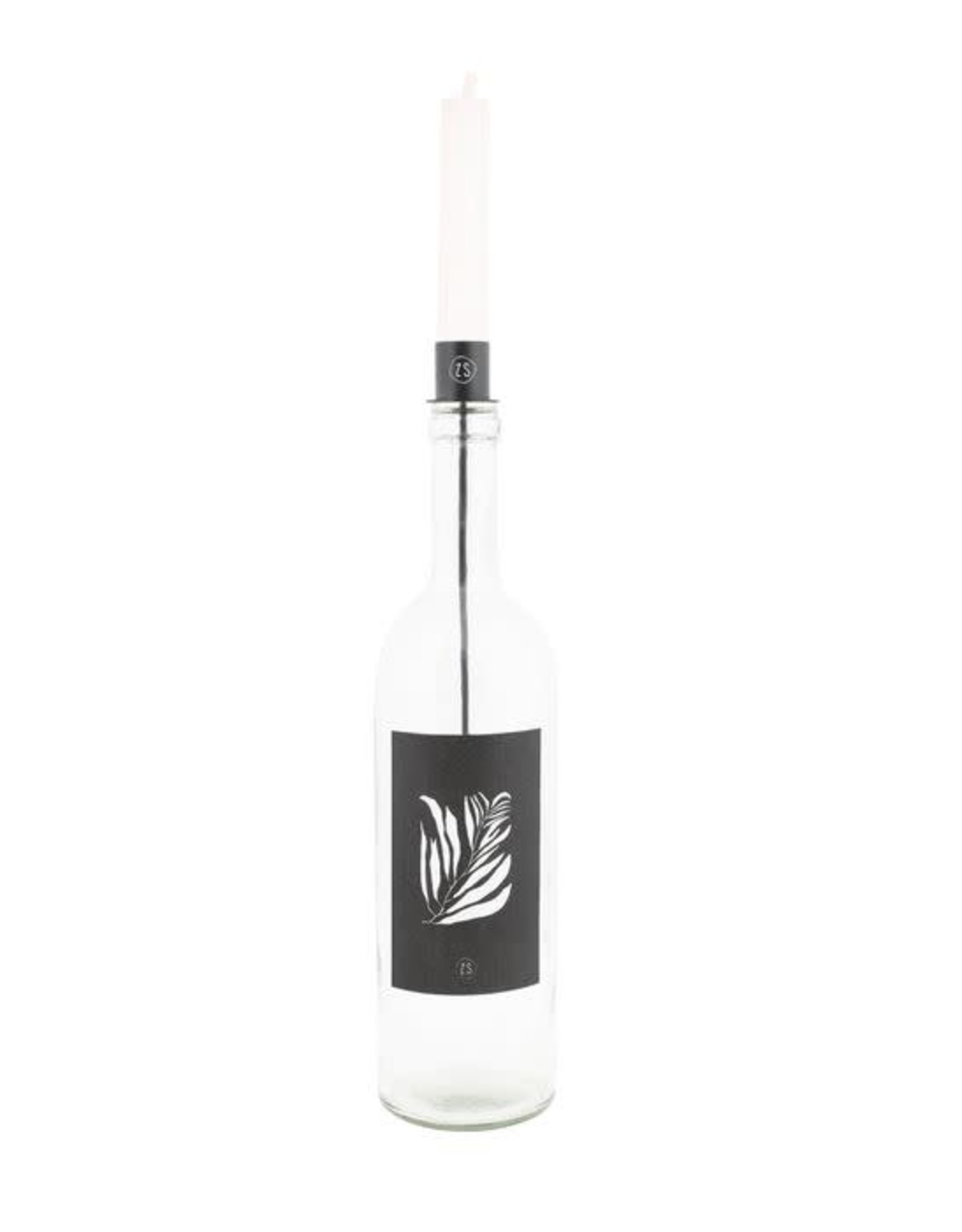 Zusss Zusss kaarsenhouder in fles Zwart