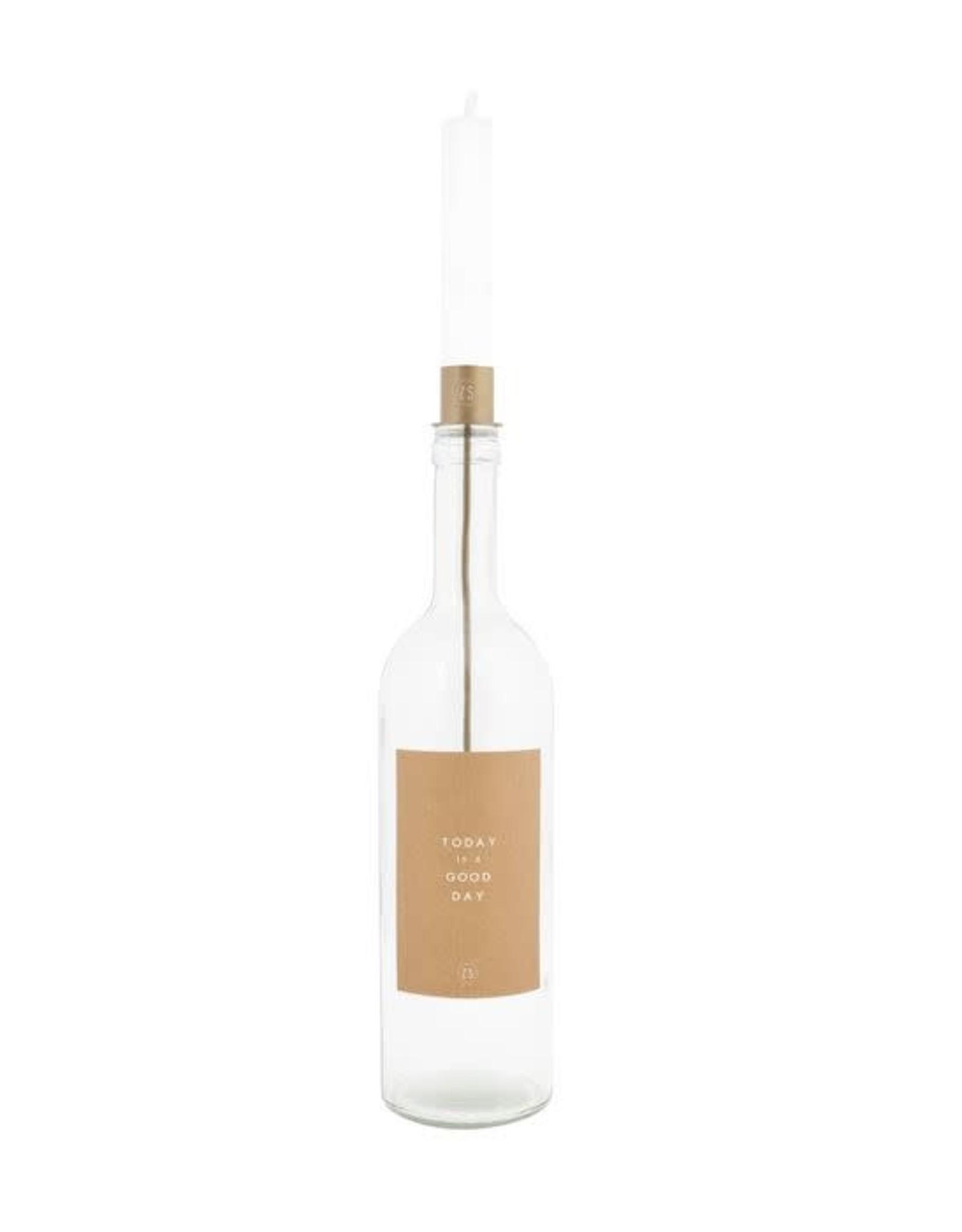 Zusss Zusss kaarsenhouder in fles Brons