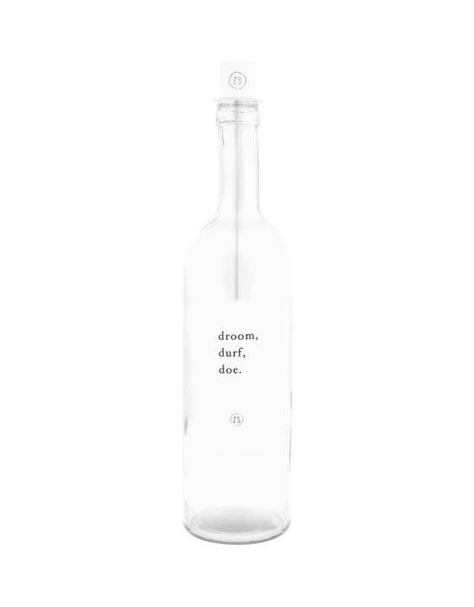 Zusss Zusss kaarsenhouder in fles Wit
