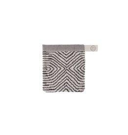 Zusss Zusss washandje grafisch patroon grijs
