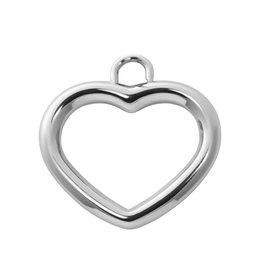 IXXXI IXXXI Bedel Charm open hart Zilver