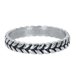 IXXXI IXXXI Ring Leaf Knot Zilver