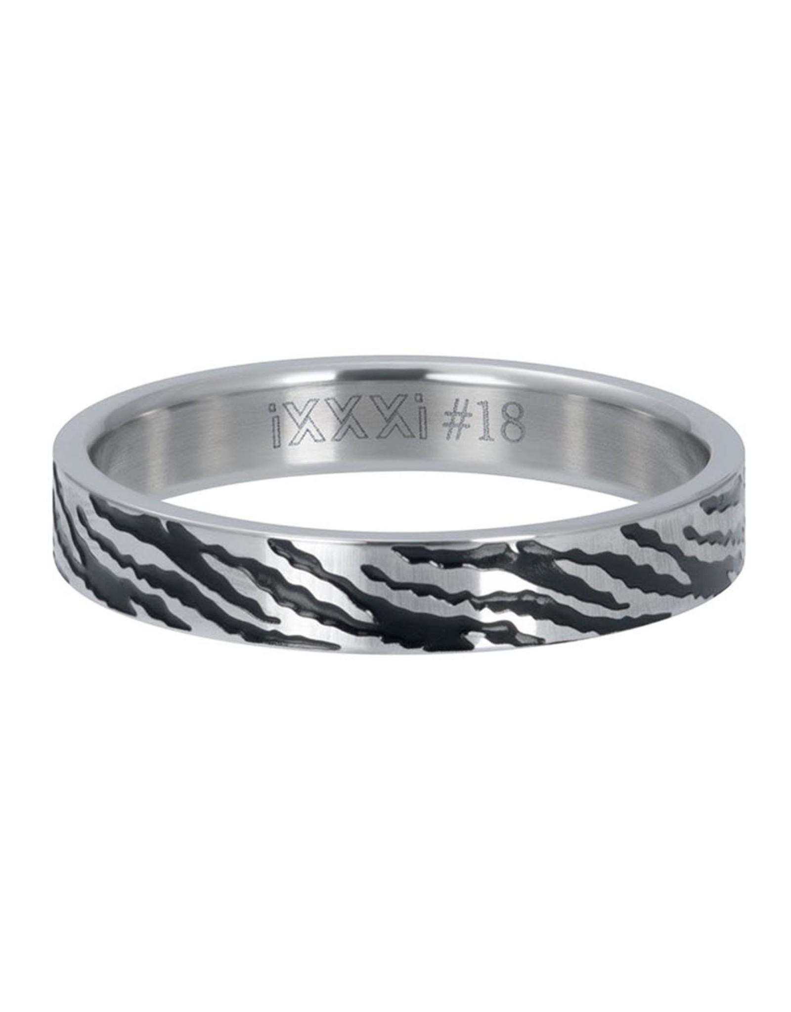 IXXXI IXXXI Ring Zebra Zilver 17