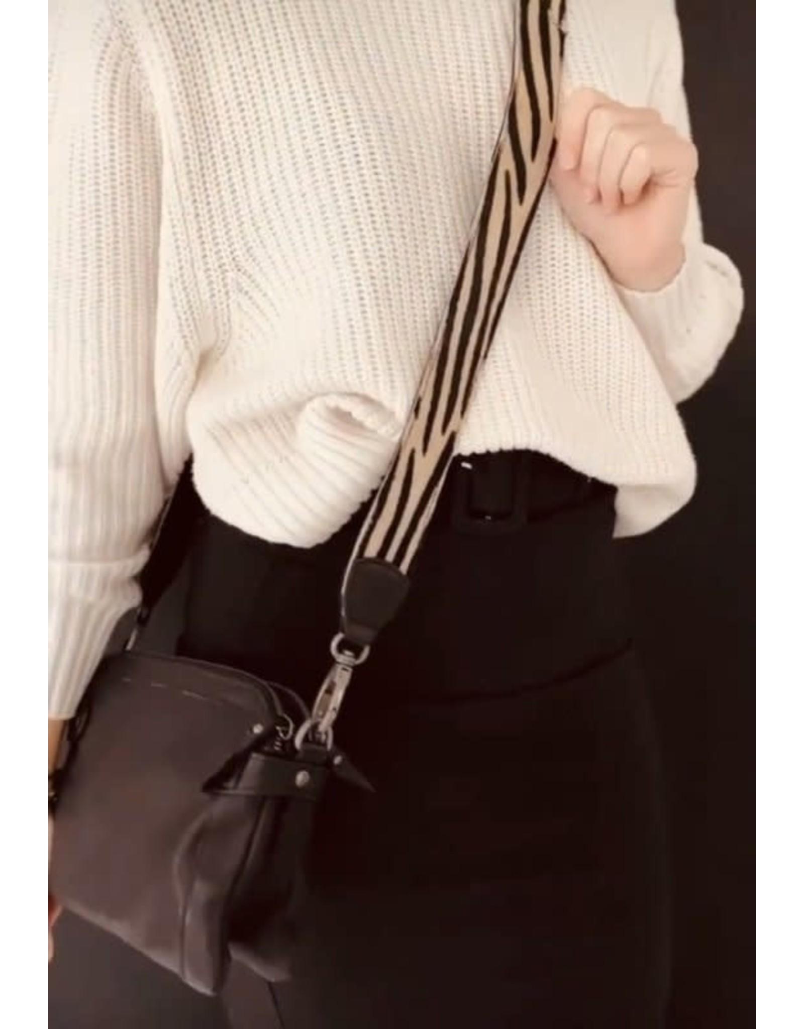 Bag2Bag Bag2Bag Schouderband Zwart 130 cm