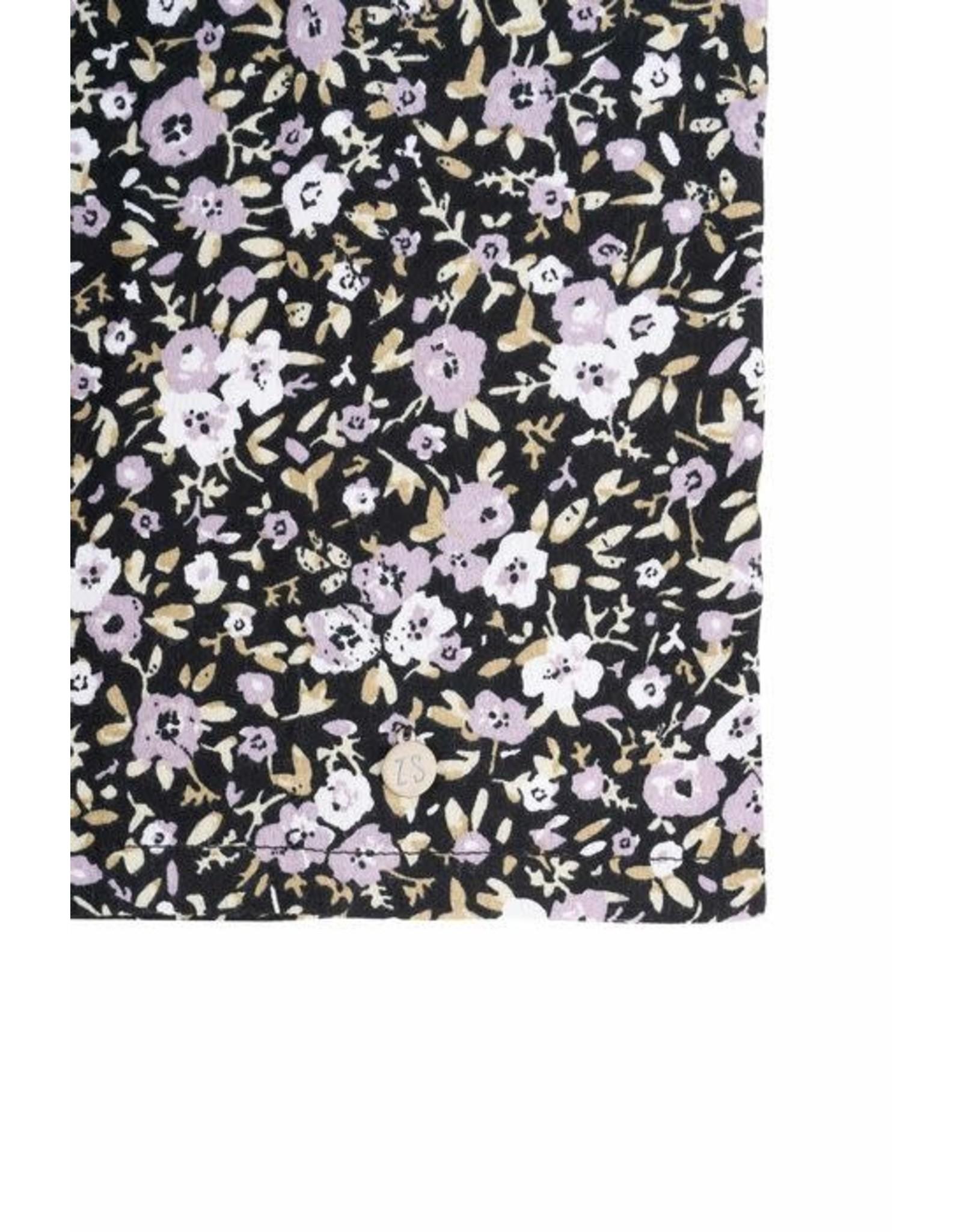 Zusss Zusss lange strokenjurk bloemenprint