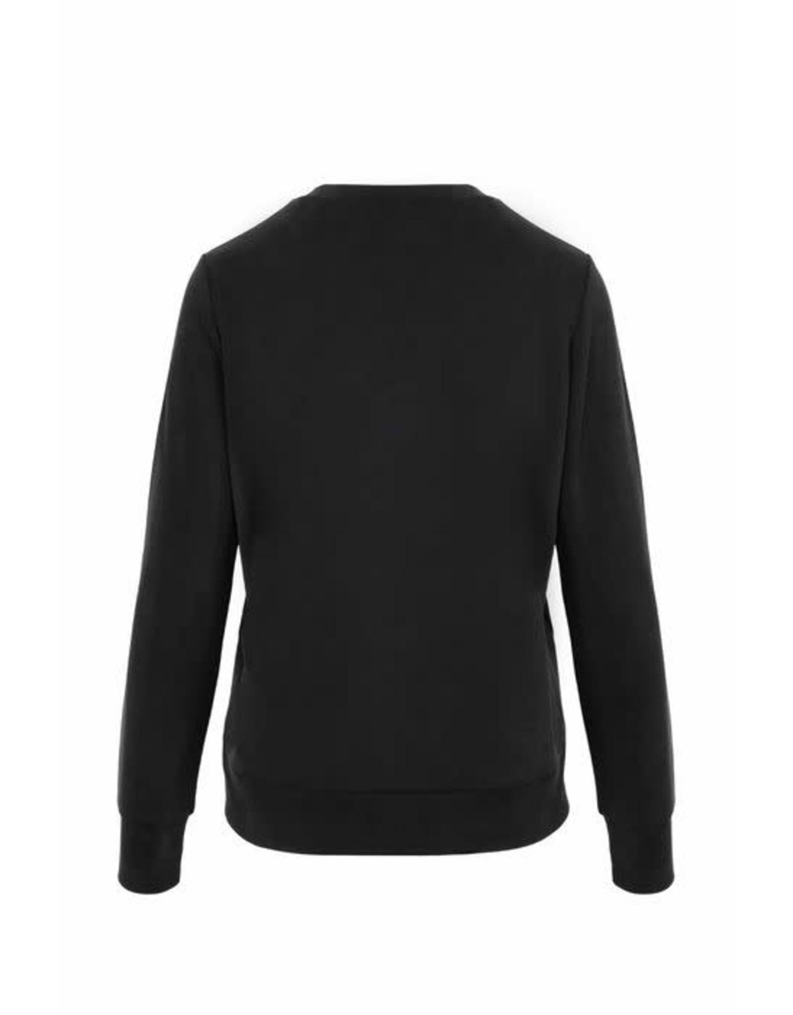 Zusss Zusss Fijne sweater off-black