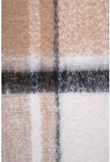 Zusss Zusss Geruite sjaal met franjes taupe