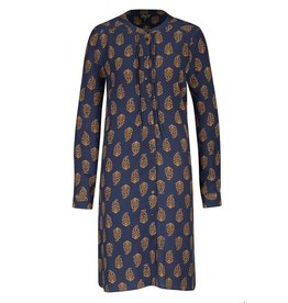 zilch Zilch Dress Buttons Paisley Navy