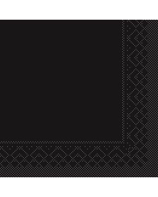 Servet Tissue 3 laags 40x40cm 1/4 vouw  Uni Zwart