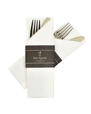 Napkin Sleeves Bon Appetit Zwart