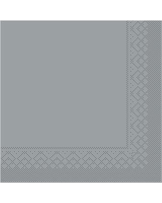 Servet Tissue 3 laags 40x40cm 1/4 vouw Uni Grijs