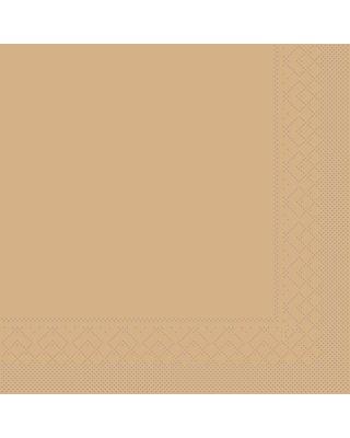 Servet Tissue 3 laags 40x40cm 1/4 vouw Uni Sand