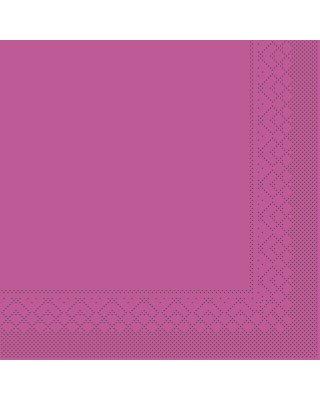 Servet Tissue 3 laags 40x40cm 1/4 vouw Uni Violet