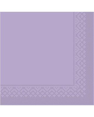 Servet Tissue 3 laags 40x40cm 1/4 vouw Uni Lila